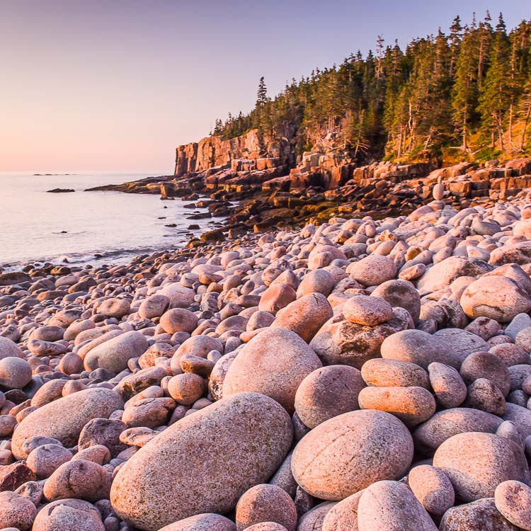 Sunrise, Otter Cliffs, Acadia National Park, Maine