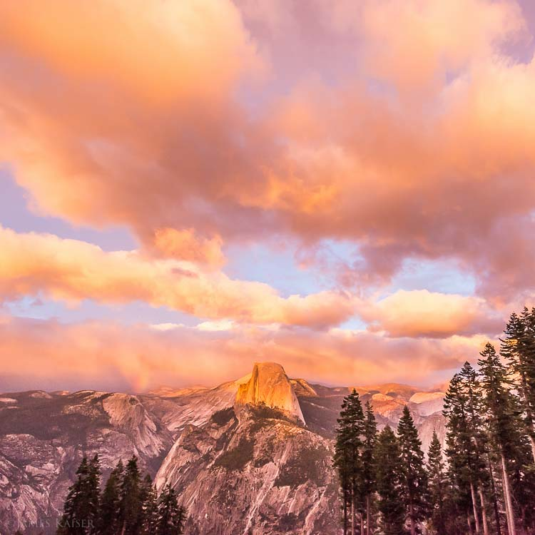 Sunset, Glacier Point, Yosemite
