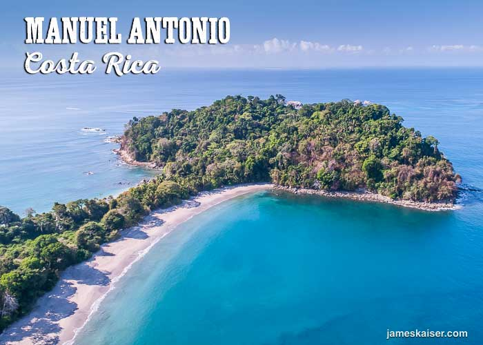 Aerial view of Manuel Antonio, Costa Rica