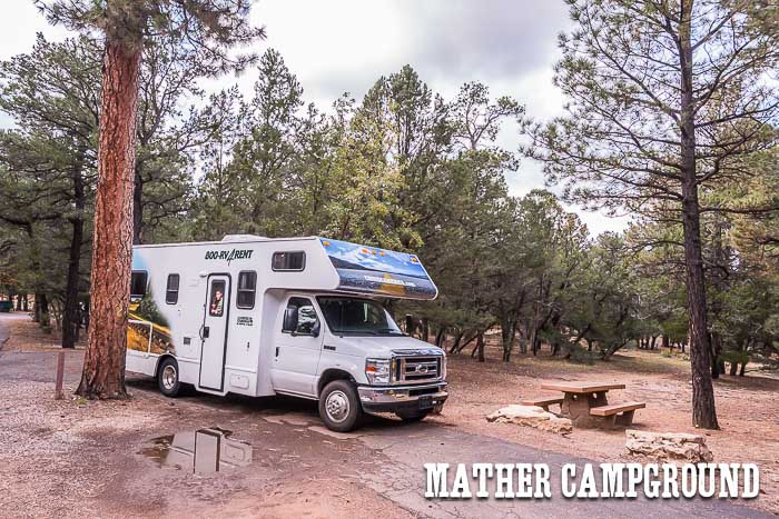RV at Mather Campground