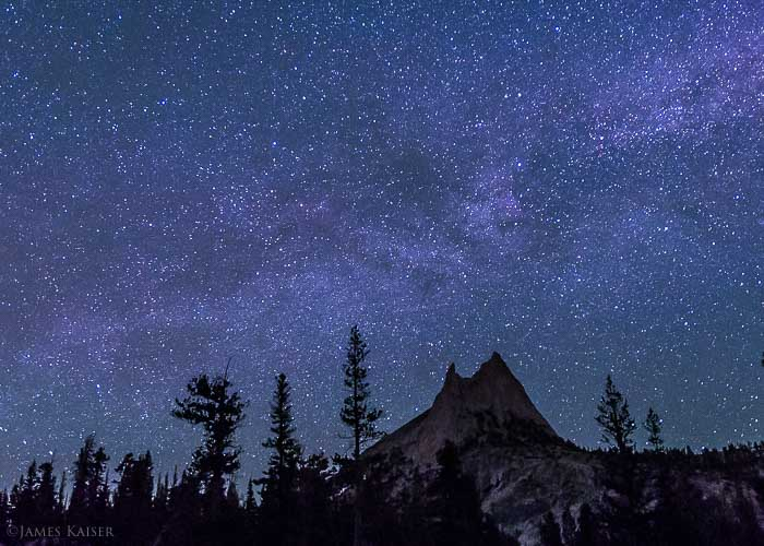 Stars over Cathedral Peak, Yosemite National Park