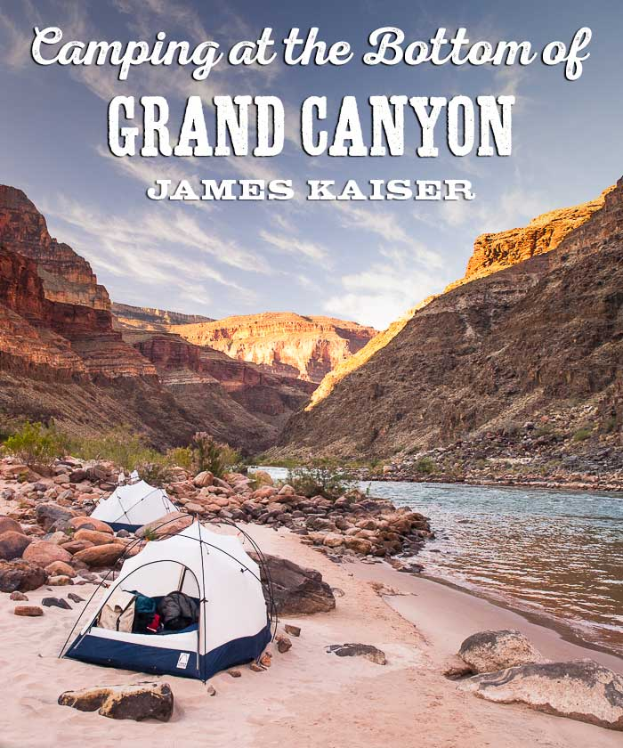 Camping at the bottom of Grand Canyon