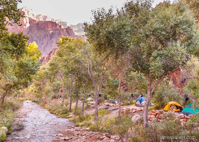 Bright Angel Campground, Grand Canyon