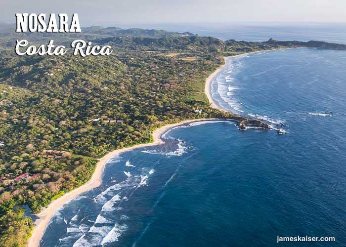Aerial view of Nosara, Costa Rica