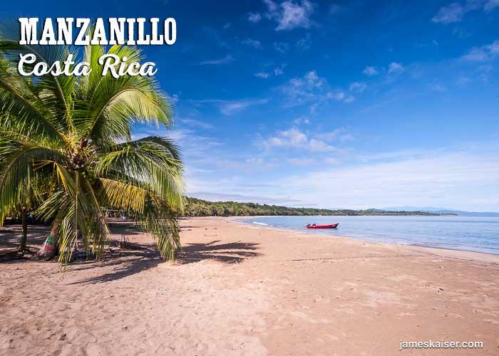 Manzanillo golden beach sand, Costa Rica