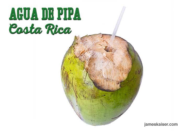 Agua de pipa, coconut water, Costa Rica