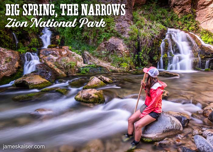 Big Spring, The Narrows, Zion National Park