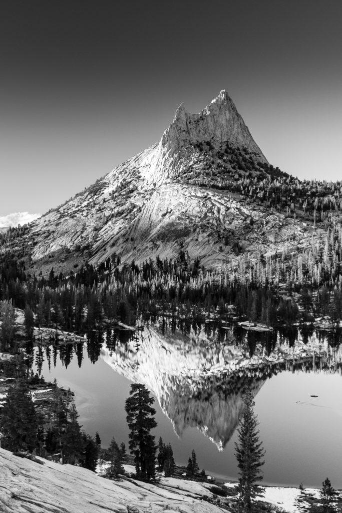 Cathedral Peak Photo print black and white